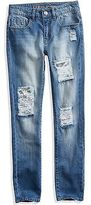 GUESS Karaline Distressed Sequin-Patch Skinny Jeans (4-16)