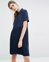 Suncoo Calle Shirt Dress with Pleated Skirt