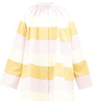 Roksanda Cassidy A-line Colour-block Cotton Coat - Womens - Multi