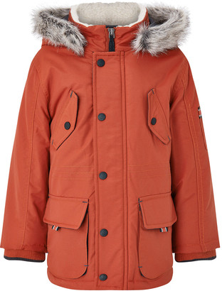 Monsoon Parka Coat with Hood Red