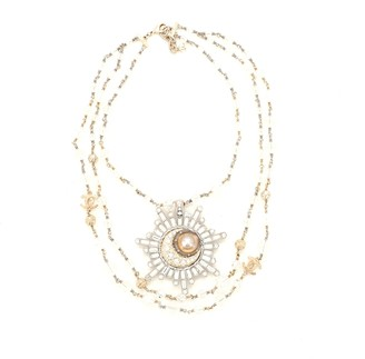 Chanel Celestial Long Triple Strand Necklace