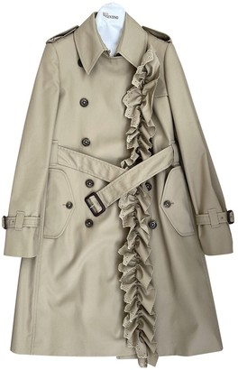 Valentino Red Camel Trench Coat for Women