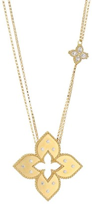 Roberto Coin Venetian Princess 18K Yellow Gold & Diamond Pendant Dual-Chain Necklace