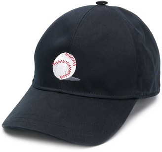 Thom Browne Ball-Embroidery Six-Panel Baseball Cap