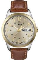 Timex Men's Elevated Classic | Gold-Tone Dial Two-Tone Case | Dress Watch T2N105