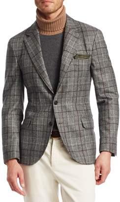 Brunello Cucinelli Glen Plaid Wool Blazer