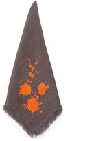 Jonathan Adler Orange/Grey Drip Napkin