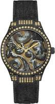 GUESS Black Brocade Floral Watch