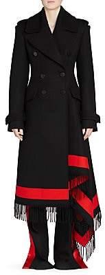 Alexander McQueen Women's Wool & Cashmere Stripe Trench Coat