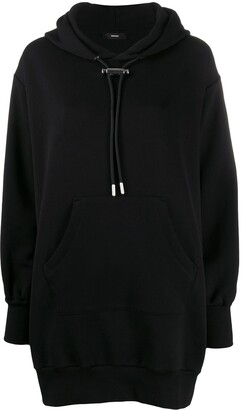 Diesel Zip Detail Hoodie Dress
