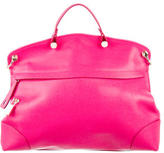Furla Pink Leather Piper Satchel