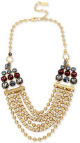 Kenneth Cole New York Gold-Tone Beaded Statement Necklace
