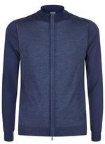 Armani Collezioni Colour Block Zip Up Cardigan