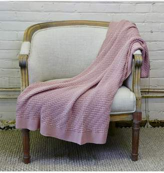 Ya-Ya & Co. Alana Blush Pure Cotton Throw
