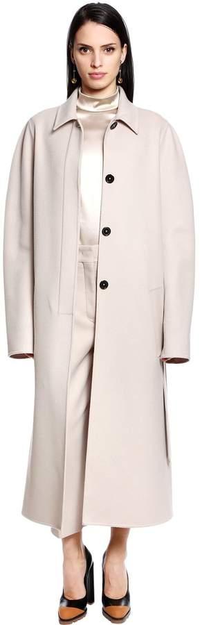 Jil Sander Belted Virgin Wool & Cashmere Coat
