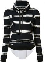 Veronica Beard folded collar jumper - women - Cotton/Spandex/Elastane - S