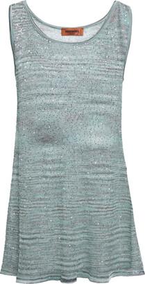 Missoni Sequin-embellished Crochet-knit Tank