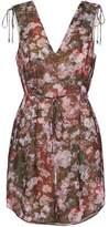 Haute Hippie Floral-Print Crepe De Chine Mini Dress