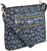 Travelon Anti-Theft Quilted 2 Zip Crossbody with RFID