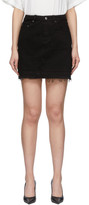 Amiri Black Denim Miniskirt