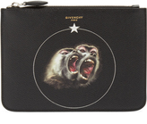 Givenchy Screaming Monkey leather document holder
