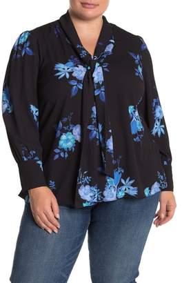 City Chic Indigo Floral Top (Plus Size)