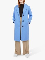 Monsoon April Textured Coat, Blue