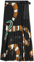 By Malene Birger Pleated Print Skirt