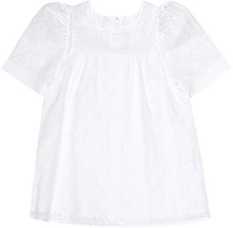 Chloé Kids Broderie anglaise cotton blouse