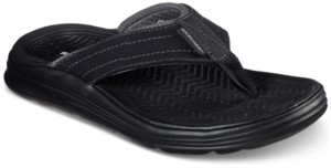 Skechers Men's Relaxed Fit Sargo Wolters Thong Sandals from Finish Line