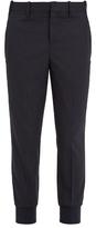 Neil Barrett Tapered-leg Pinstriped Wool-blend Trousers