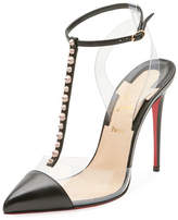 Christian Louboutin Nosy Spiked T-Strap Red Sole Pump