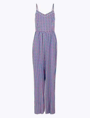 Marks and Spencer Geometric Waisted Jumpsuit