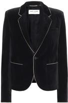 Saint Laurent Cotton-velvet blazer