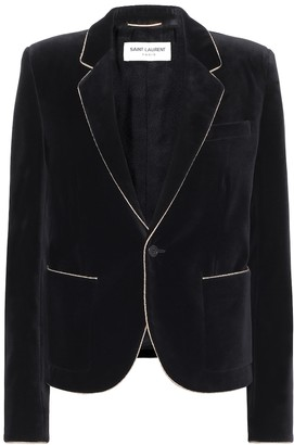 Saint Laurent Cotton-velvet blazer