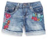 Vigoss Girl's Floral-Motif Denim Shorts