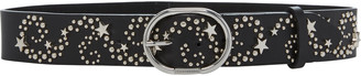 Paco Rabanne Studded Leather Belt