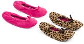 2pk Leopard Cozy Ballet Slippers