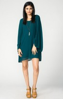 MUMU Bombshell Dress ~ Emerald Chiffon