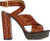 Chloé platform sandals - women - Calf Leather/Leather - 35