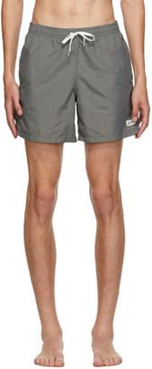 Bather Grey Solid Swim Shorts