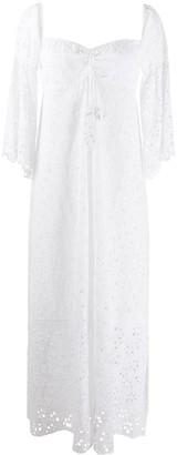 Anjuna Broderie Anglaise Maxi Dress