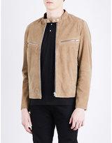 The Kooples Mandarin-collar Suede Jacket
