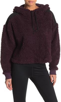 Zella Z By Sheila Fleece Hooded Pullover