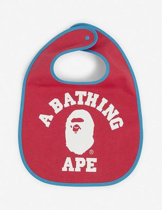 A Bathing Ape College logo-print cotton bib