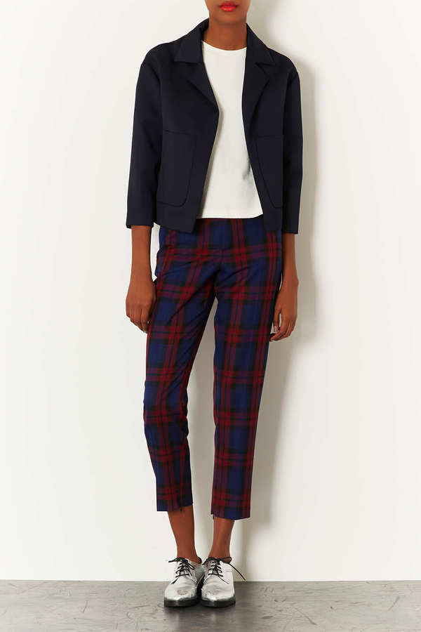 Topshop Heavy Lux Cropped Jacket