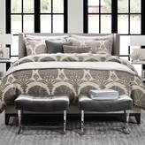 Printed Ottoman Floral Linen Bedding, Natural