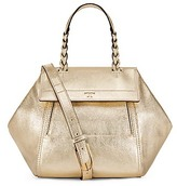 Tory Burch Half-Moon Metallic Small Satchel