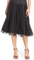 Adrianna Papell Pleated Tulle Midi Skirt