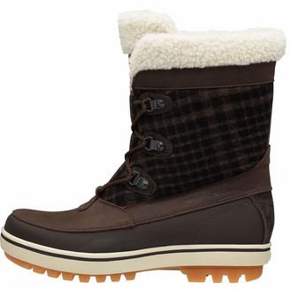 Helly Hansen Women's Georgina Winter Boot with Faux-Fur and Grip Clay/Coffee Bean/Soccer Gum